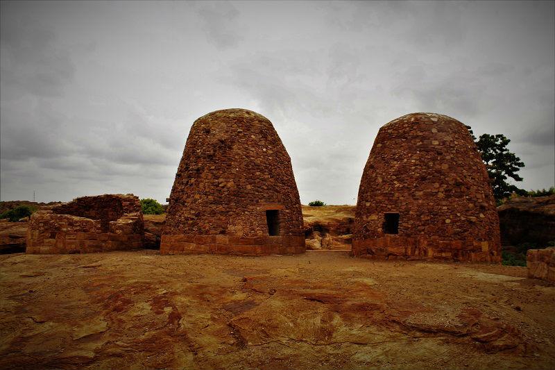 amazing structure at Badami caves Karnataka