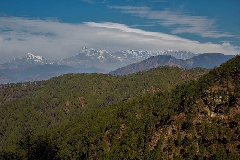 amazing view from Gwaldam Uttrakhand