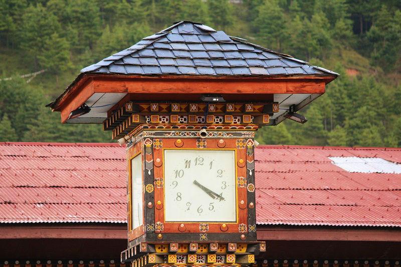 clock tower Paro City Bhutan