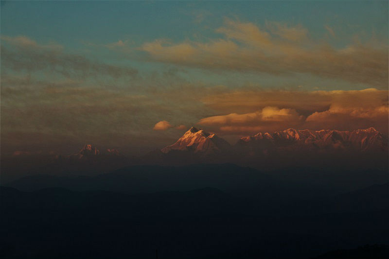cloudy at Kausani Uttrakhand