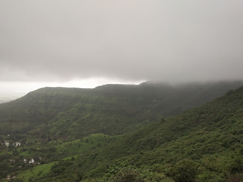 cloudy atmosphere as seen from Purandar Fort