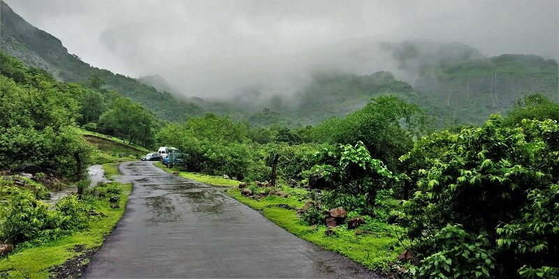 cloudy on Rajmachi valvand route