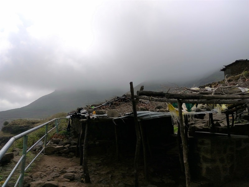 cloudy weather on Brahmagiri hill trek