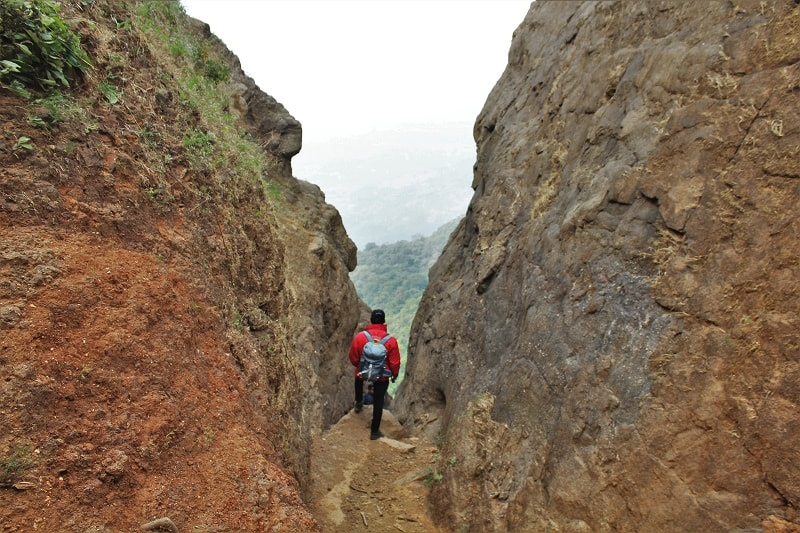 col on Dhak Bahiri Cave trek