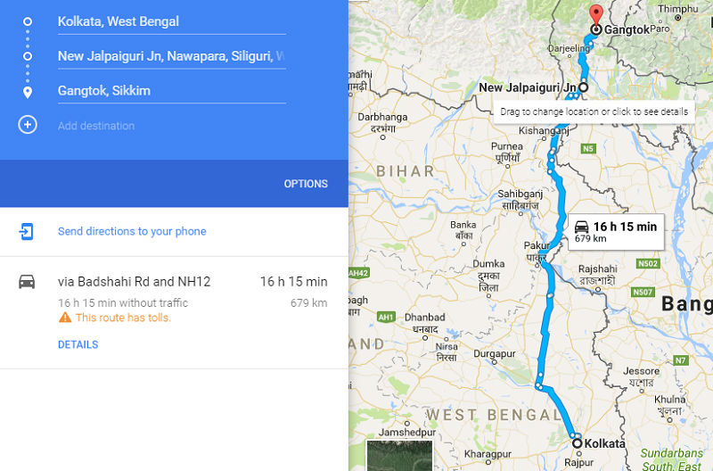 How to reach Gangtok Sikkim