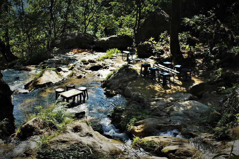 in way to Neer garh Waterfall Rishikesh Uttarakhand