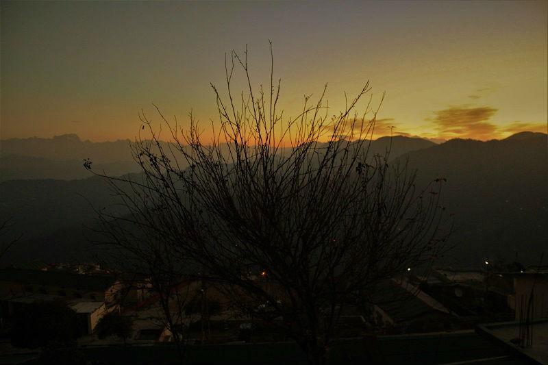 just before sunrise at Pauri Uttarakhand
