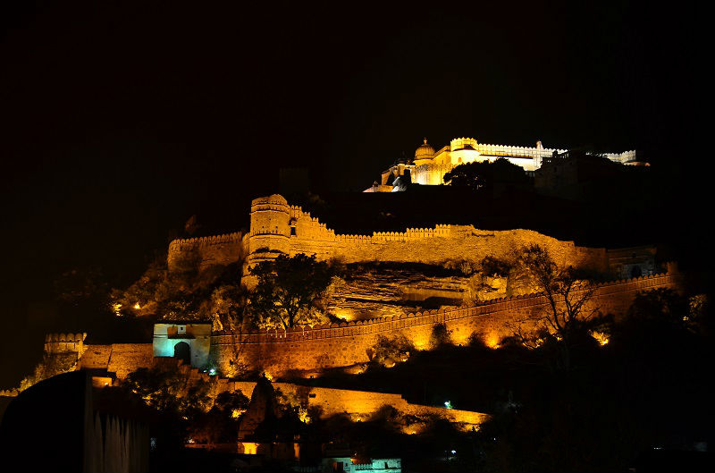 lightening kumbhalgarh Fort