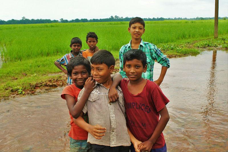 lovely kids majuli  assam