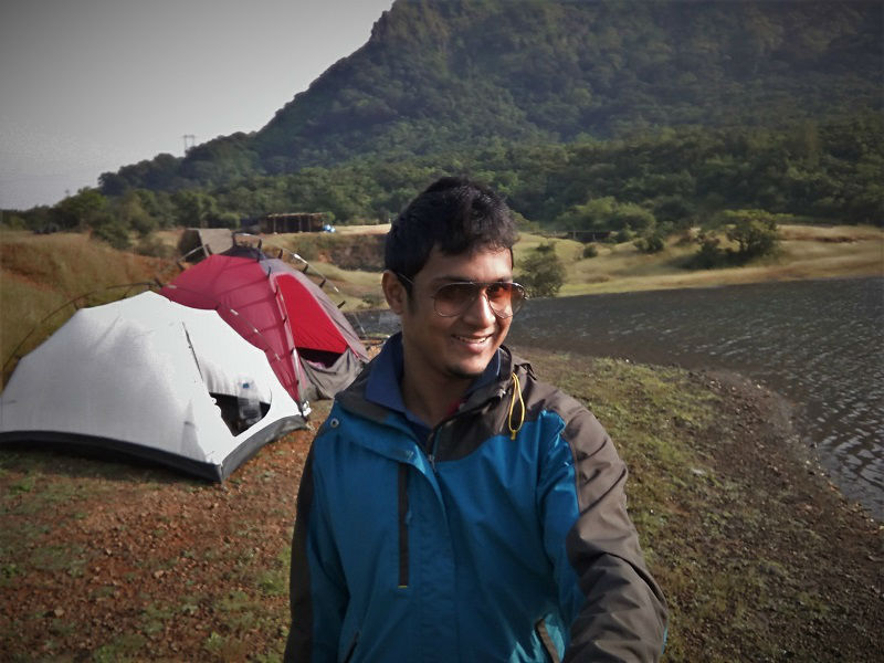 me at Pimpri dam Andharban Jungle trek Start Point