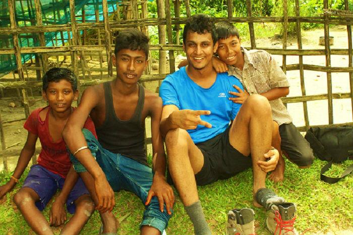 my new friends at Majuli river island assam