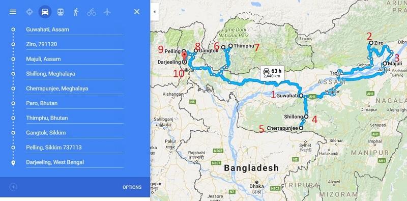 north east India and Bhutan Trip
