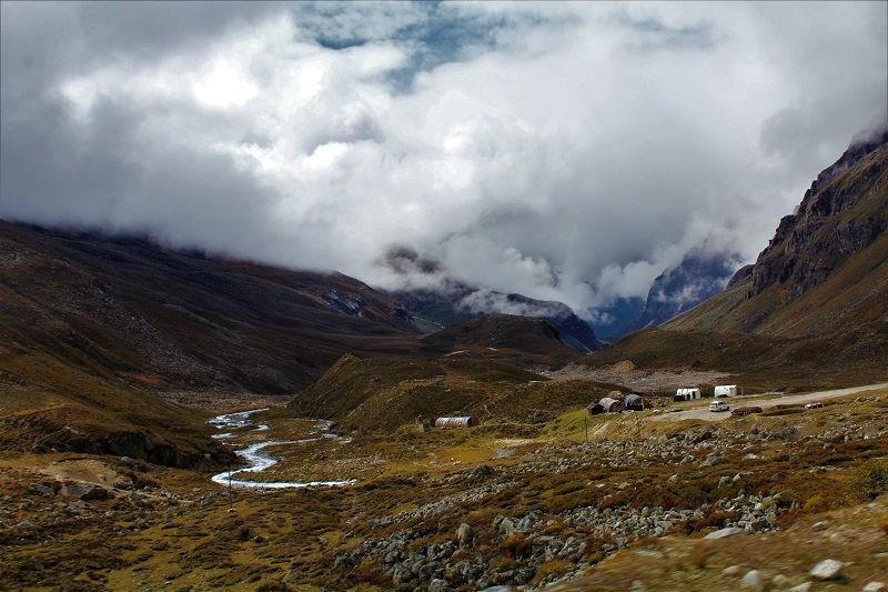 landscape on way to Zero point sikkim
