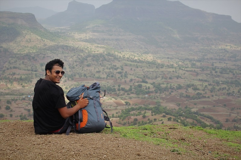 onacheaptrip at Brahmagiri Hill near Nashik city
