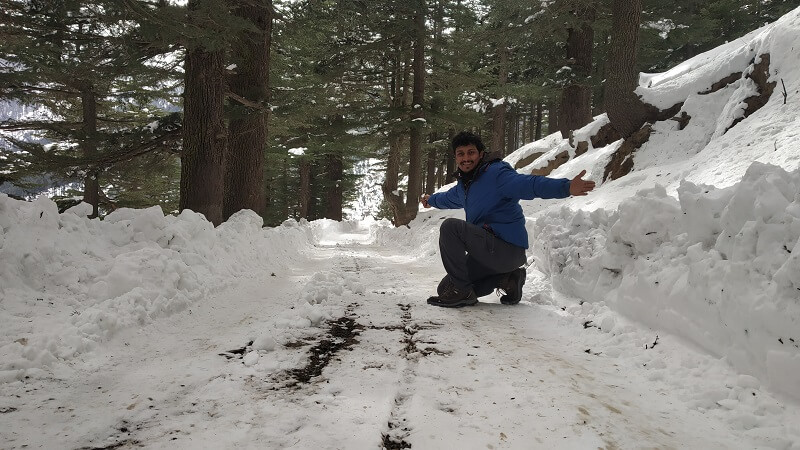onacheaptrip at Kalpa in winters