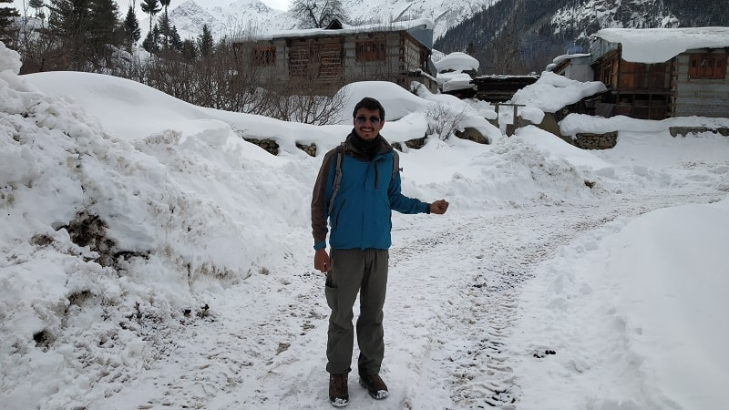 onacheaptrip at Rakcham near Chitkul in winters