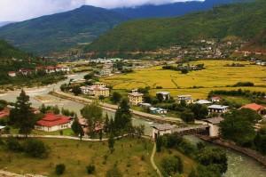 Paro City Bhutan from India