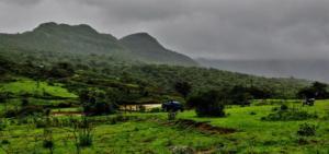 Beautiful Landscape Korigad Fort Trek