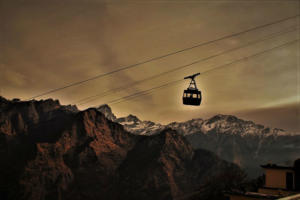 Cable car ropeway at Auli Hill station Uttrakhand