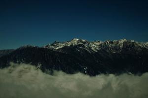 Himalayan range Yuksom Sikkim