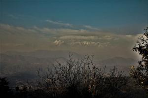 Himalayan range as seen from  Kausani Uttrakhand