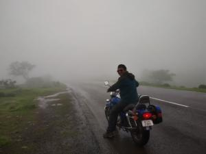 In route to Korigad Fort trek amid foggy weather