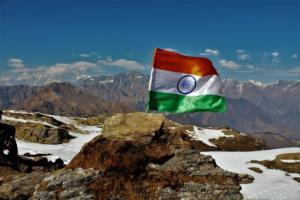 Indian Flag on Khalia top Munsiyari