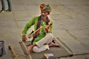 Instrument played at Gangaur Ghat Udaipur City