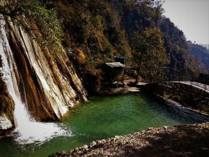 Neer garh Waterfall view Rishikesh Uttrakhand