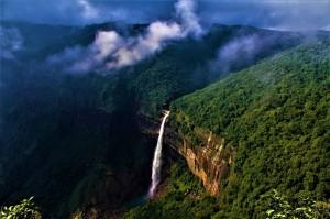 Nohkalikai Falls cherrapunji wettest place on earth