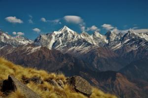 Panchachuli Peaks on Khalia top trek Munsiyari