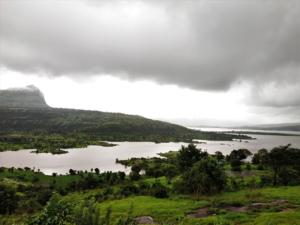 Pawna lake as seen en route to Tung Fort