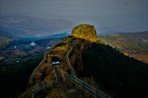 Scorpion trail at Lohagad Fort near Pune Mumbai