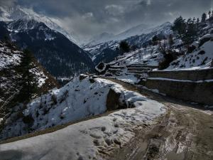 Snow route Tosh himachal pradesh
