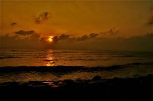 Sunset at Auro Beach Puducherry