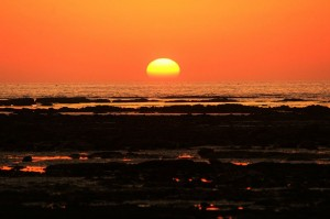 Sunset at Devka beach daman one day trip
