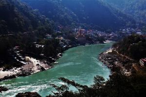 The beautiful Ganga from Tapovan Rishikesh Uttrakhand