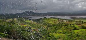 View of Thokarwadi Dam from Unnamed waterfall