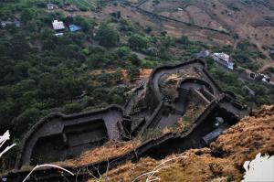 Walls of Lohagad Fort Near Pune Mumbai