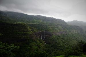 Waterfall Rajmachi Fort Trek