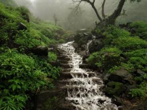 Waterfall at Korigad Fort Trek