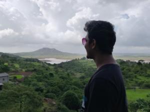 enjoying view of Thokarwadi Dam