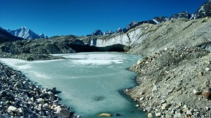 on route gokyo Everest Base Camp trek