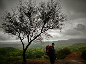 on way to Torna Fort Base village