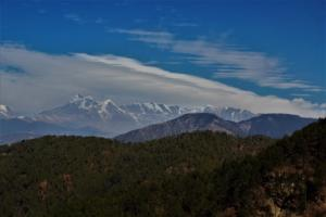 snow covered peaks as seen from Gwaldam Uttrakhand