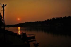 sunset at Rishikesh Uttrakhand