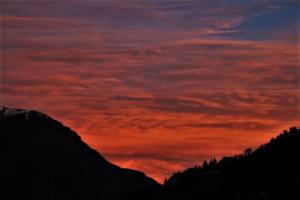 sunset view at Joshimat near  Auli Hill Station Uttrakhand