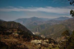 valley view at Gwaldam Uttrakhand