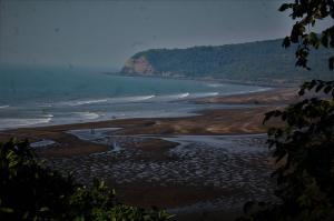 view of Harihareshwar Beach from top