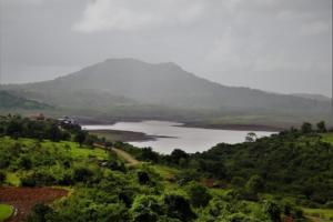 views from unnamed waterfall in kanhe khandi region